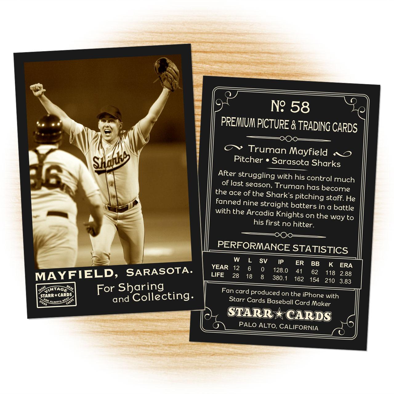 Vintage 95 Series custom baseball cards