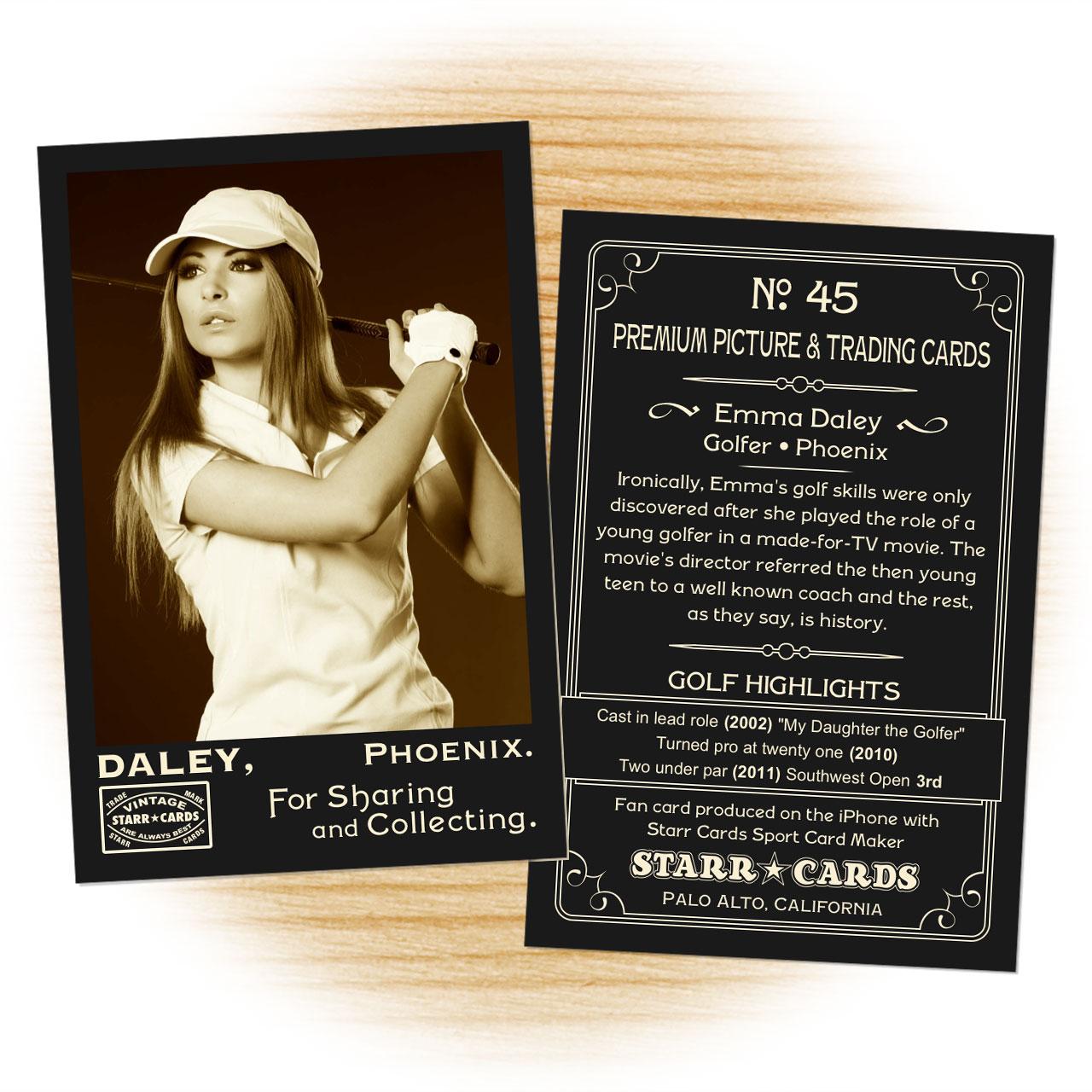 Vintage 95 Series custom golf cards