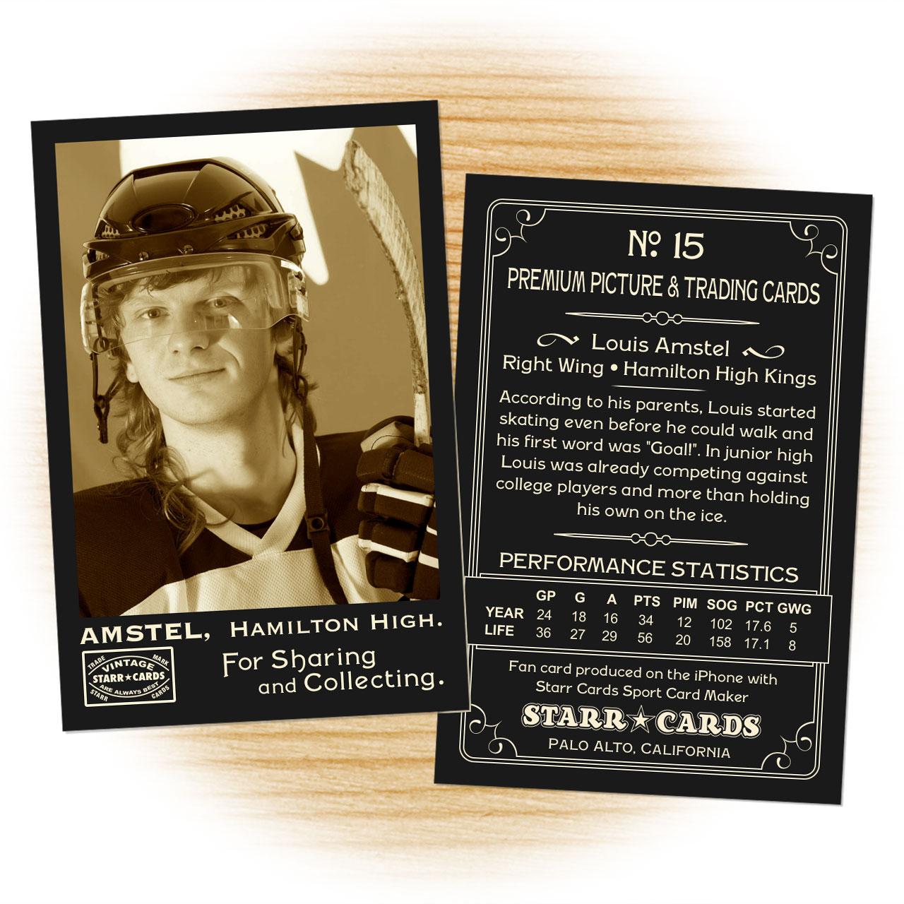 Vintage 95 Series custom hockey cards