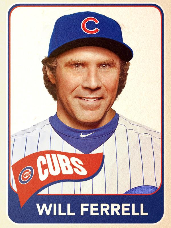 Will Ferrell, First Base, Chicago Cubs - <b>Baseball Card</b> - will-ferrell-first-base-chicago-cubs-baseball-card